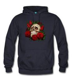 Sugar skull and Red Roses - Men's Premium Hoodie #hoodie #sugarskull #skull #skeleton #bone #hallowen #nightmare #monster #dracula #zombie #hunter #evil #devil #daemon #magic #witch #voodoo #kingdom #animal #animalkingdom #ghost #vampire #hauntedmansion #bird #lion #beast #jungle #flowers #roses #floral #pattern