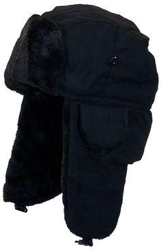 25eb8a75cee Best Winter Hats Adult Russian Aviator Faux Suede Leather w Faux FurOne  Size .