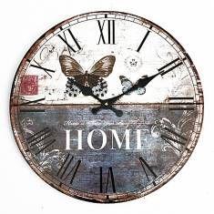 Bureau à domicile papillon café bar la décoration art horloge murale millésime