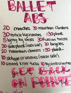 Do this every night to get those ballet abs that you've all ways wanted! Do this every night to get those ballet abs that you've all ways wanted! Ballerina Workout, Dancer Workout, Gymnastics Workout, Dance Exercise, Flexibility Dance, Flexibility Workout, Body Workout At Home, At Home Workout Plan, Ballet Stretches