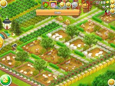 Hayday Farm Design, Farm Layout, Farm Plans, Hay Day, Game Design, Diys, Barbie, Cases, Culture