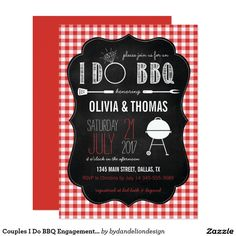 Couples I Do BBQ Engagement Shower Invitation