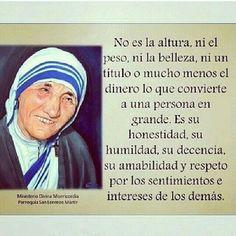 Madre Teresa....