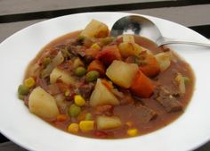 Quick Beef Vegetable Soup From Leftover Pot Roast.  Easy to make after making pot roast.