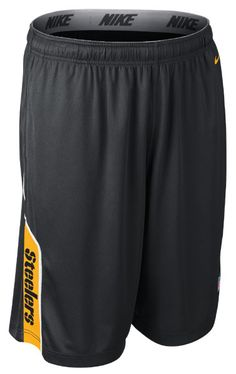 Nike Steelers Player Dri-FIT Black Short Here We Go Steelers 14141eadd