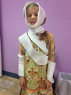 Toliet paper bandages and bandaids for the 10 lepers bible story.