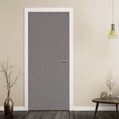 Tres Pearl Grey Flush Door - Prefinished, add a pair of beautiful chrome or brass handles or door knobs to make it stand out.    #homedecor #greydoors