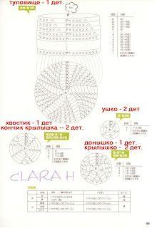 Amigurumi Owl diagram