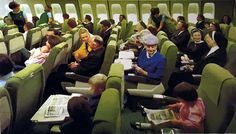 AER LINGUS 747 economy class in the 70's