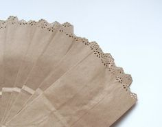 Lace Edged Paper Bags for Wedding Favors or Party Gifts Set of 10