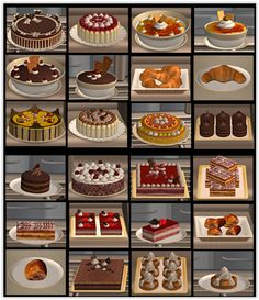 Edible Cakes & Pastries for The Sims 2 (TS2)