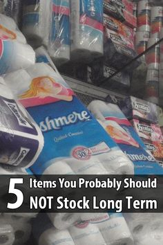 Although countless survival supply lists include things like toilet paper and gasoline, these are actually not good for storing in large quantities.