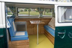 Bay Window in high gloss zebrano - Dubteriors Quality VW Camper Interiors Volkswagen Bus Interior, Camper Interior, Vw Camper, Bay Window, High Gloss, Home Appliances, Windows, Interiors, Campervan