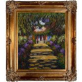 Found it at Wayfair - Tori Home MonetGarden Path at Giverny Hand Painted Oil on Canvas Wall Art