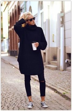 comfy chic | all black