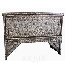 Mother of pearl Moroccan, Syrian and Levantine Furniture - Syrian mother of pearl chest.