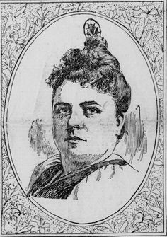 Mrs. Cordelia Botkin of California, convicted of murdering Mrs. John P. Dunning of Dover, Delaware by sending her poisoned candy through the mail. Illustration from the San Francisco Call, 30 August 1898