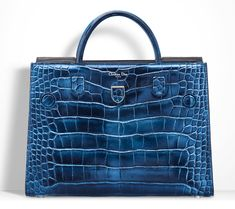 Christian Dior Diorever Alligatore Tote Blue | Architect's Fashion