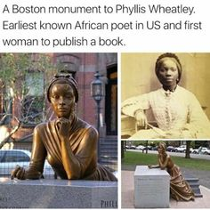 Umm that's not actually a picture of Phyllis Wheatley. It's of Sara Forbes Bonetta. Phyllis Wheatley died in 1784 way before photography even existed