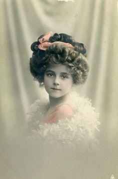 Alluring Ellen Little Edwardian Girl in Period Dress Hair Style