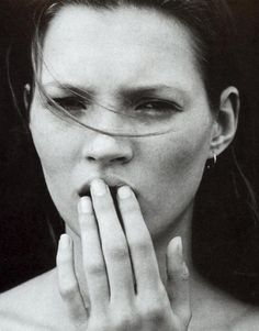 """Calvin Klein parfum obsession"""" - Kate Moss by Mario Sorrenti for Vogue US, February 1995"""