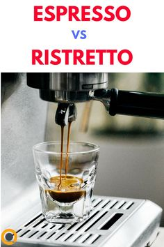 """Have you ever wondered what all of the different options within your favorite coffee shop's """"espresso"""" menu are? You might be familiar with a mocha, a latte, an Americano, or a cappuccino, but do you know what makes an espresso different from a ristretto Espresso Shot, Espresso Coffee, Coffee Coffee, Aeropress Coffee, Coffee Club, Drink Coffee, Coffee Pods, Coffee Beans, Coffee Shop"""