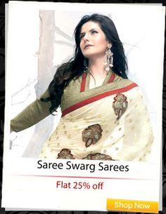 #Saree Swarg Sarees at flat 25% off!