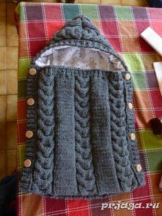 Конверт спицами малышу – Knitting patterns, knitting designs, knitting for beginners. Baby Knitting Patterns, Knitting Designs, Diy Crochet, Crochet Baby, Vestidos Bebe Crochet, Baby Girl Cards, Baby Cocoon, Kids Blankets, Knitting For Beginners