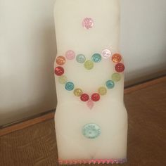 Embellishment heart candle