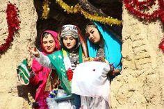 Asia: Mongol Hazara girls, Afghanistan