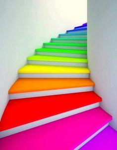stairs superbe escalier arc en ciel