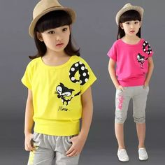 Cheap girls clothing sets, Buy Quality kids clothing set directly from China children clothing set Suppliers: 2017 New Design Girl Clothing Set Short t-Shirt + Pants Kid Clothing Set Cartoon Pattern Children Clothing Set Vest Summer Syle Baby Girl Vest, Baby Boy Outfits, Kids Outfits, Summer Outfits, Summer Clothes, Stylish Little Girls, Boys And Girls Clothes, Girl Dress Patterns, Kids Pants
