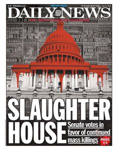 New York Daily News Slams Senate Gun Vote With Bloodied Capitol Building