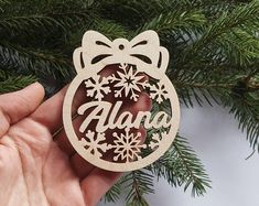 Wooden Christmas baubles, personalized name ornament, laser cut wood snowflake decoration, Xmas winter home decor, custom Christmas gift PLEASE NOTE: . Christmas In July Decorations, Snowflake Decorations, Snowflake Ornaments, Christmas Wood, Christmas Crafts, Natal Design, Wood Snowflake, Winter Home Decor, Xmas Stockings