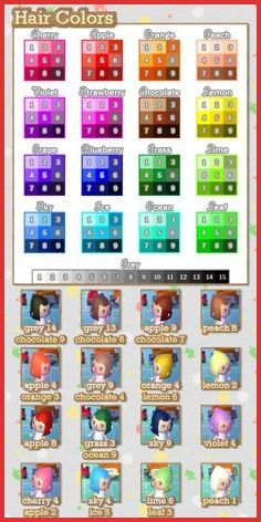 Animal Crossing City Folk Hair Color Guide 162161 1384 Best New Leaf Images On Pinterest In 2 Animal Crossing Hair Animal Crossing Guide Animal Crossing