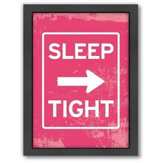 Americanflat Patricia Pino ''Sleep Tight'' Framed Wall Art ($66) ❤ liked on Polyvore featuring home, home decor, wall art, words, text, quotes, phrase, saying, multicolor and backgrounds