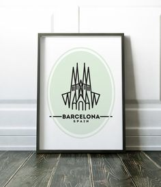 Barcelona minimalist print - many more cities and states are available in my store.  Most of my prints are now available for you to print at home in my other shop here: www.etsy.com/uk/shop/NordicDesignHouseCo  MY PRINTS  All of my prints are designed inhouse so if you require a different colour or alteration please just send me a convo and I will be more than happy to make any small change free of charge. Larger, more time consuming changes will require an additional charge which I will be…