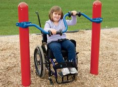 Accessible Stationary Cycler | Single Upper Body Cycler for All Abilities | Landscape Structures
