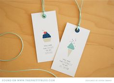 """""""You are the sweetest"""" printable tags"""