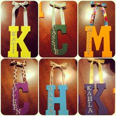 Made these for monograms my dorm room door (: