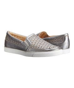This Silver Banter Suede Slip-On Sneaker by Nine West is perfect! #zulilyfinds