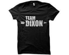 Team Dixon T-Shirt - group walking dead t-shirt daryl dixon fan hoodie ladies tank tee tshirt on Etsy, $12.95