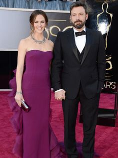 Jennifer Garner and Ben Affleck at the Oscars where Ben won for Best Movie 'Argo''in which he acted and directed