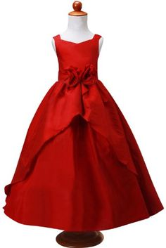 eda79a69b Red Ball Gowns, Princess Gowns, Bridesmaid Gowns, Dress Casual, Everyday  Dresses, Little Girl Fashion, Kids Fashion, Larger, Little Girls