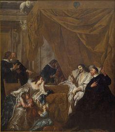 La Mort de Louis XIII, Jean-François de Troy, 1731, Statens Museum for Kunst. SMK photo