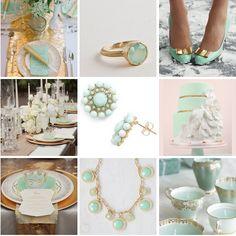 #mint #gold #wedding