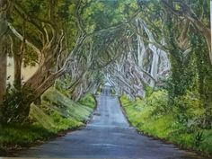 Original art for sale, face painting and oil or water colour commissions Original Art For Sale, Hedges, Northern Ireland, Country Roads, Watercolor, Dark, Artist, Artwork, Painting