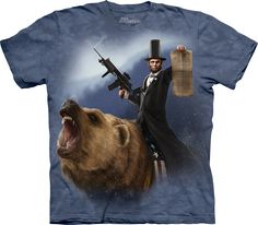 Size XL     The Mountain Lincoln The Emancipator T-Shirt