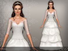 Wedding dress 37 by BEO - Sims 3 Downloads CC Caboodle
