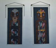 Odin and Frigga by UrbanWitchery on Etsy  Matching Wall Hangings  #Urbanwitchery, #NorseGods #Frigga, #Odin, #Norsemythology